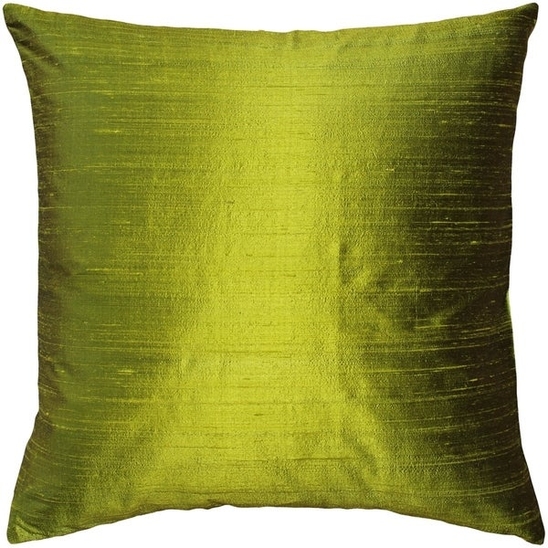 Pillow Decor - Sankara Chartreuse Green Silk Throw Pillow 20x20