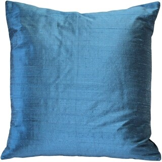 Pillow Décor - Sankara Marine Blue Silk Throw Pillow 18x18