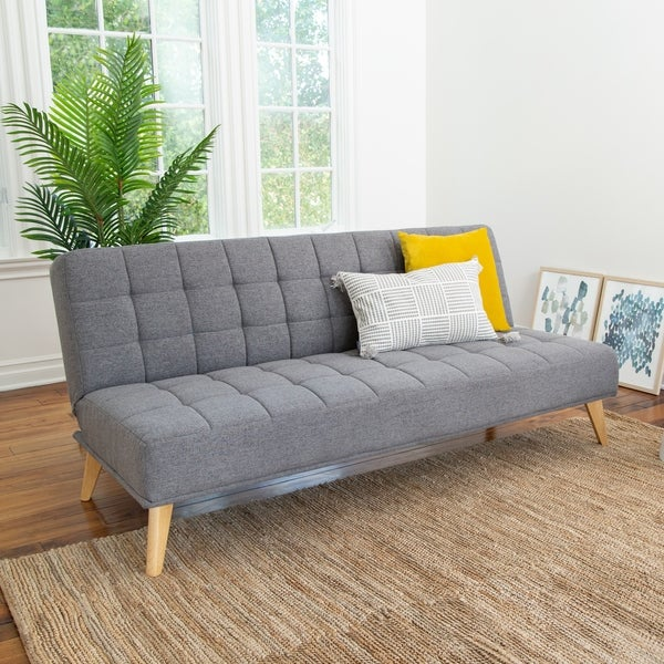 Shop Abbyson Carson Mid Century Tufted Fabric Convertible