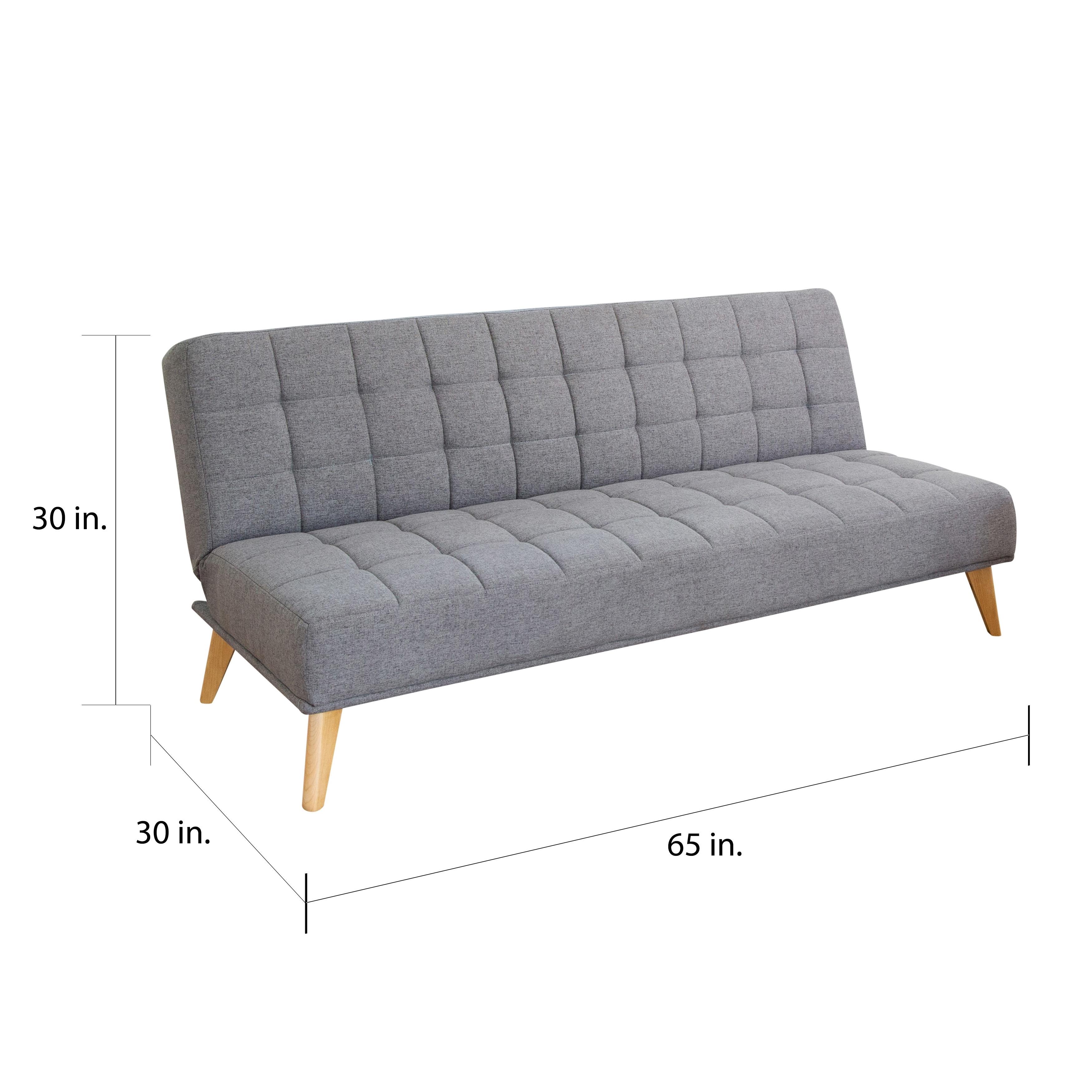 Fabric Tufted Convertible Futon