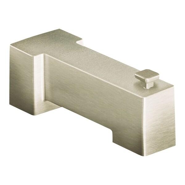 Shop Moen Non Diverting Tub Spout Brushed Nickel Brushed Nickel