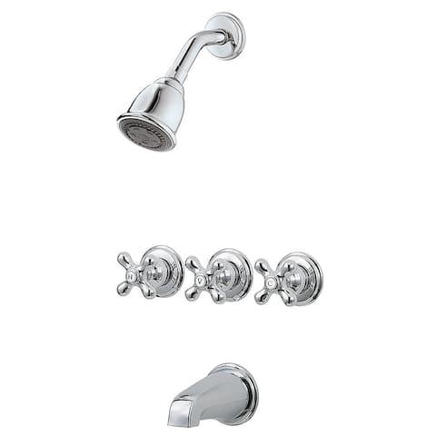 Pfister 01 Series Three Handle Tub and Shower Chrome