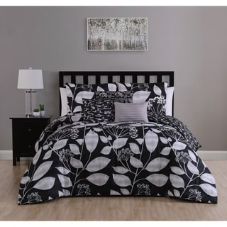 Shop Jezebel Grey Yellow Reversible 7 Piece Comforter Set