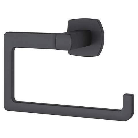 Pfister Deckard Towel Ring Matte Black