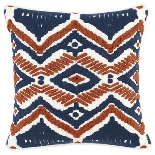 Kosas Home Yana Embroidered 18-inch Throw Pillow