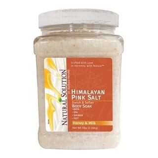 Natural Solution Himalayan Pink Salt Honey & Milk Body Soak 5 lbs