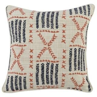 Kosas Home Seneca Embroidered 22-inch Throw Pillow