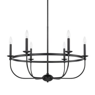 Capital Rylann 6-light Matte Black Chandelier
