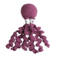 Handmade Knit Rattle Octopus (Kyrgyzstan)