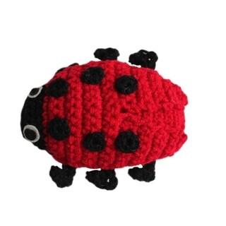 Handmade Knit Rattle Ladybug (Kyrgyzstan)