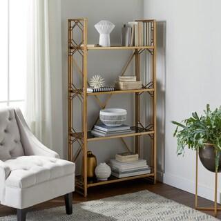 Abbyson Ledford Gold Bookshelf