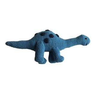 Handmade Knit Rattle Brontosaurus (Kyrgyzstan)