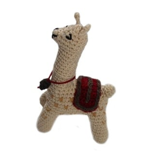 Handmade Knit Rattle Llama (Kyrgyzstan)