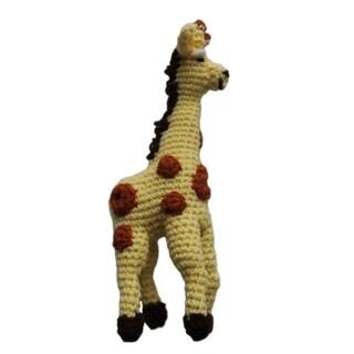 Handmade Knit Rattle Giraffe (Kyrgyzstan)