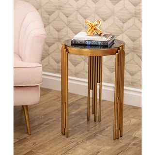 Abbyson Medlin Gold Accent Table