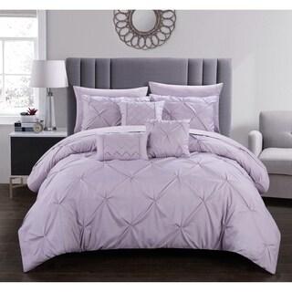 Chic Home Valentina 10 Piece Pinch Pleated Comforter Set