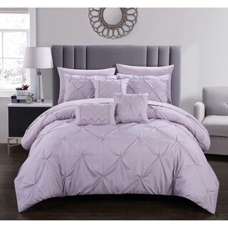 Chic Home Valentina 10 Piece Pinch Pleated Comforter Set