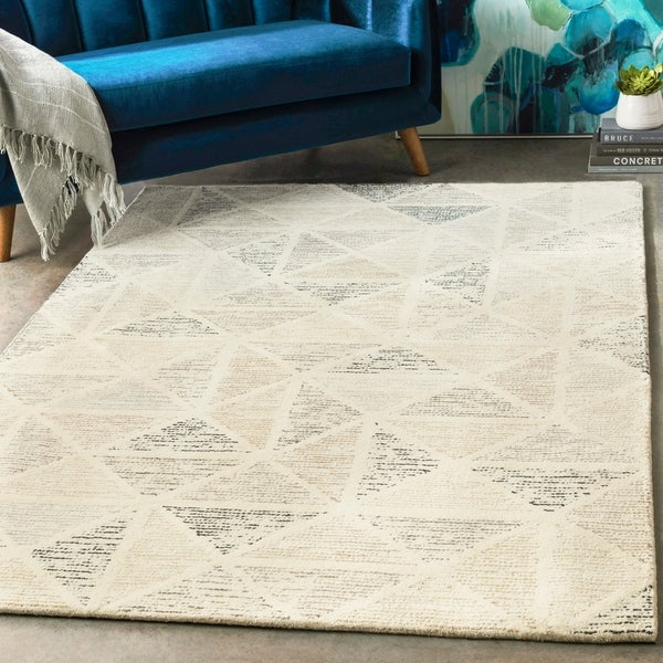 Shop Hand Tufted Linz Slate Grey Wool Area Rug 10 X 14