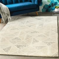 Hand-Tufted Linz Slate Grey Wool Area Rug - 10' x 14'