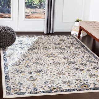 """Maxwell Ivory & Navy Traditional Area Rug - 7'10"""" x 10'3"""""""