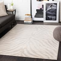 "Niamey Khaki Animal Print Area Rug - 7'10"" x 10'3"""