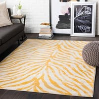 Niamey Mustard Animal Print Area Rug - 7'10 x 10'3