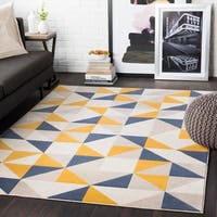 Thiago Yellow Geometric Area Rug - 7'10 x 10'3
