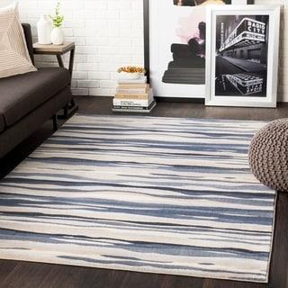 "Colton Grey Wavy Stripes Area Rug - 7'10"" x 10'3"""