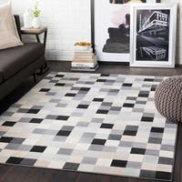 "Sierra Grey Contemporary Pixelated Area Rug - 9'3"" x 12'3"""