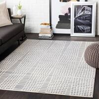"""Bradley Taupe Abstract Grid Area Rug - 7'10"""" x 10'3"""""""