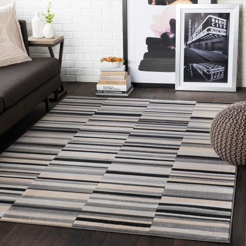 "Elsie Grey Contemporary Area Rug - 8'8"" x 12'3"""