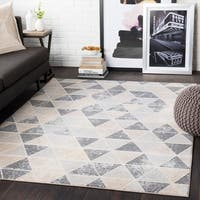 Brynn Taupe Distressed Contemporary Area Rug - 7'10 x 10'3