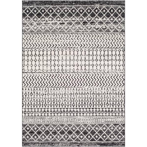 Small Boho Rug Doormat Rug Small Area Rug Turkish Rug Small Handmade Rug Black Bohemian Rug 3,9 x 1,8