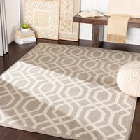 Kamila Light Grey Transitional Trellis Area Rug - 7'10 x 10'3