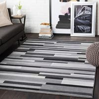 Corbin grey Striped Contemporary Area Rug - 2' X 3'