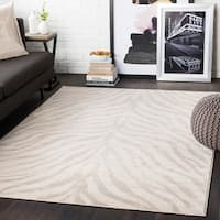 "Niamey Khaki Animal Print Area Rug - 2'7"" x 7'3"" Runner"
