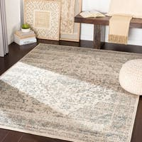 "Carson Teal & Camel Vintage Traditional Area Rug - 7'10"" x 10'3"""