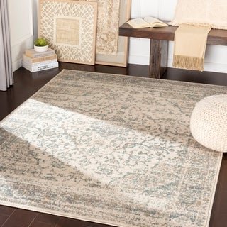 Carson Teal & Camel Vintage Traditional Area Rug - 7'10 x 10'3