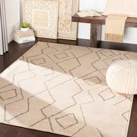 "Francisco Beige Abstract Bohemian Area Rug - 7'10"" x 10'3"""