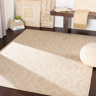 "Kamila Beige Transitional Trellis Area Rug - 7'10"" x 10'3"""