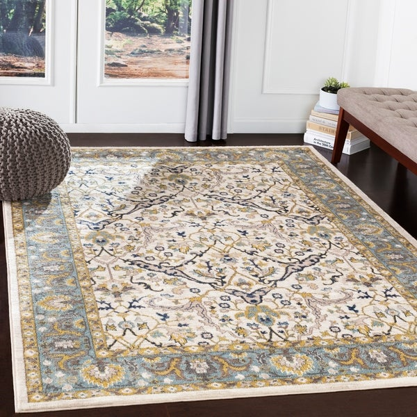 "Paxton Sky Blue Traditional Area Rug - 5'3"" x 7'3"""