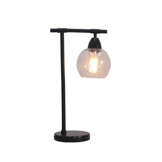 "Fangio Lighting's 1560BLK 18"" Table Lamp in Black"