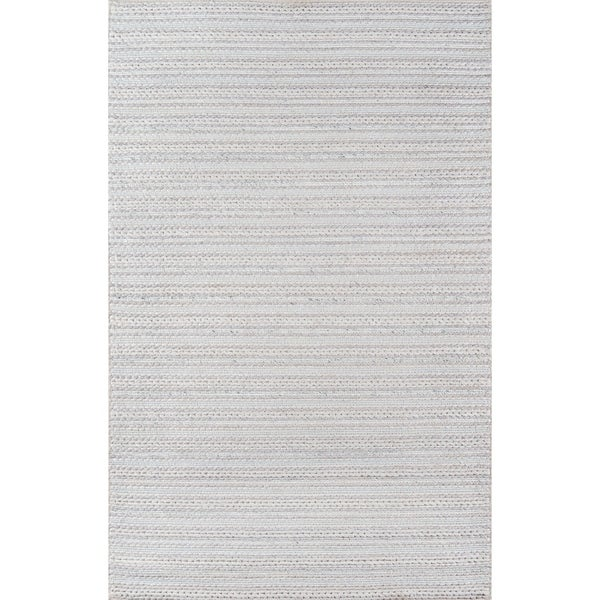 """Momeni Andes Hand Woven Viscose and Wool Light Grey Area Rug - 7'9"""" x 9'9"""""""