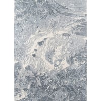 Momeni Illusions Hand Tufted Wool Grey Area Rug - 8' x 11'