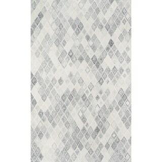 Momeni Cortland Hand Tufted Wool Grey Area Rug - 8' x 10'