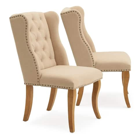 Avingnon Tufted Dining Chair in Beige by RST Brands