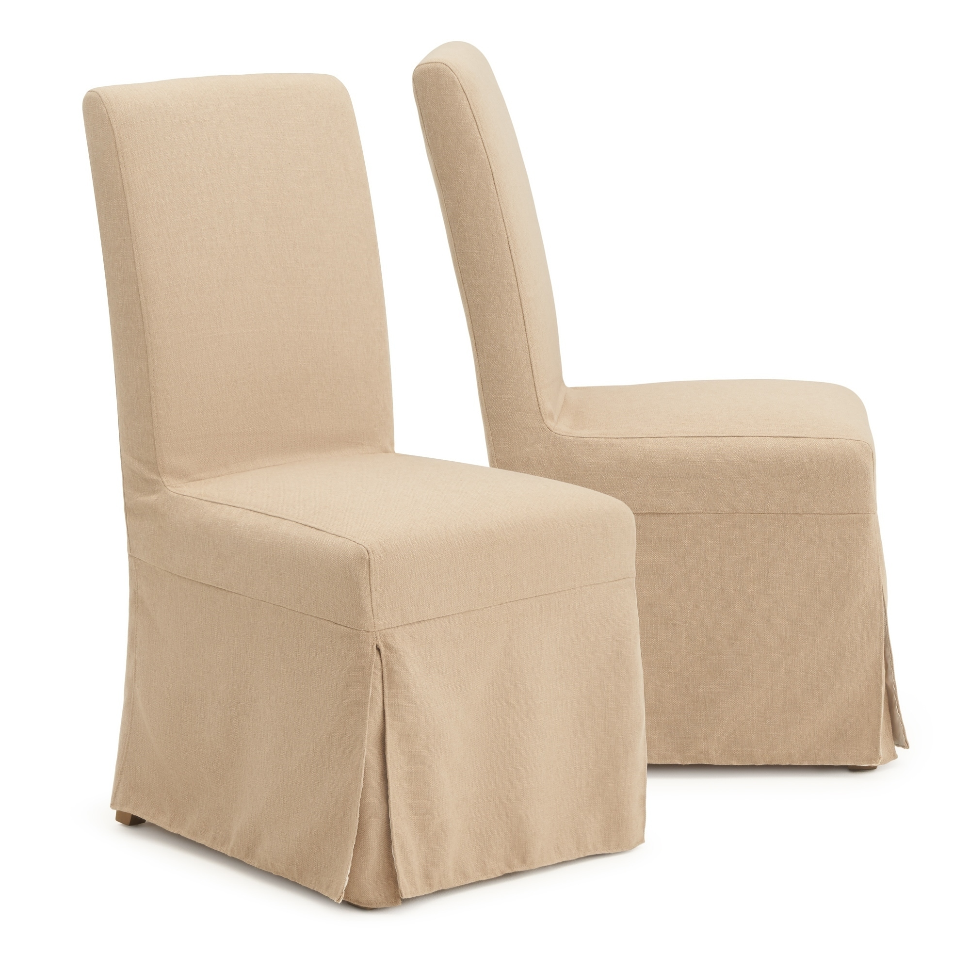 Astrid Slipcover Dining Armless Chair In Beige By Rst Brands