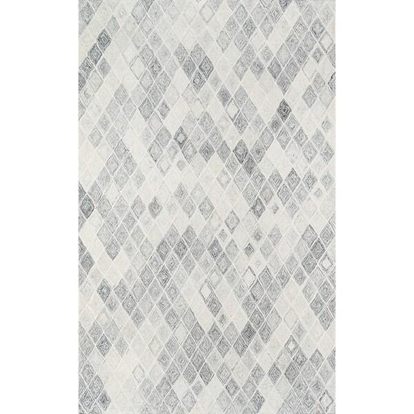Shop Momeni Cortland Hand Tufted Wool Grey Area Rug 5 X