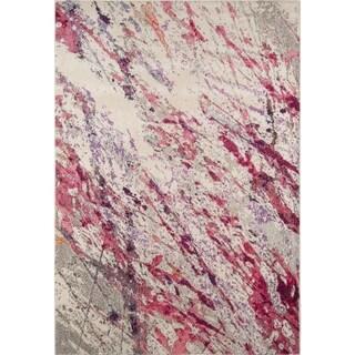 """Momeni Casa Machine Made Polypropylene Pink Area Rug - 5'3"""" x 7'6"""""""