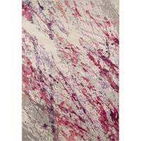 Momeni Casa Polypropylene Pink Area Rug - 5'3 x 7'6